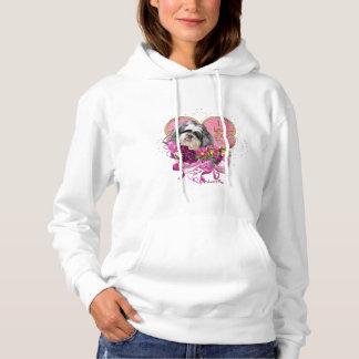 シーズー(犬)のTzu愛基本的なフード付きのスエットシャツ パーカ