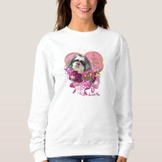 シーズー(犬)のTzu愛女性の基本的なスエットシャツ スウェットシャツ