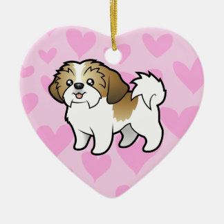シーズー(犬)のTzu愛(切られる子犬) セラミックオーナメント