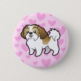シーズー(犬)のTzu愛(切られる子犬) 缶バッジ