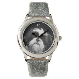 シーズー(犬)のTzu犬のグリッターの腕時計 腕時計