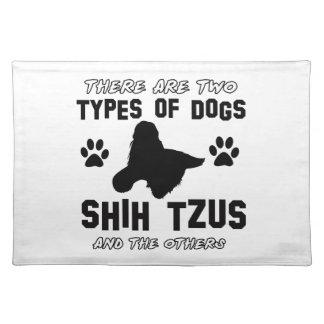 シーズー(犬)のtzu犬のデザイン ランチョンマット