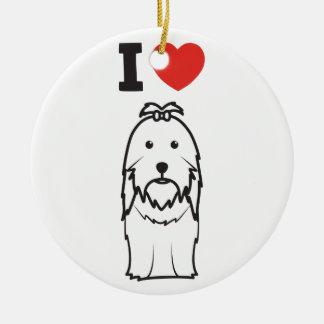 シーズー(犬)のTzu犬の漫画 セラミックオーナメント