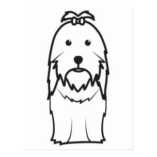 シーズー(犬)のTzu犬の漫画 ポストカード