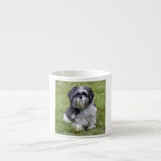 シーズー(犬)のTzu犬の美しくかわいい写真のエスプレッソのマグ エスプレッソカップ