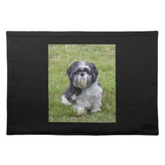 シーズー(犬)のTzu犬の美しくかわいい写真のランチョンマット ランチョンマット