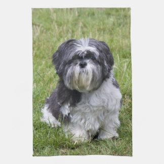 シーズー(犬)のTzu犬の美しくかわいい台所ふきん キッチンタオル
