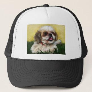 シーズー(犬)のTzu犬の芸術- Sophie キャップ