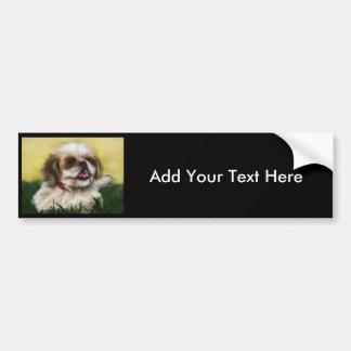 シーズー(犬)のTzu犬の芸術- Sophie バンパーステッカー
