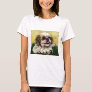 シーズー(犬)のTzu犬の芸術- Sophie Tシャツ