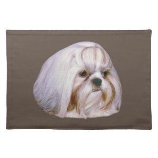 シーズー(犬)のTzu犬、カスタマイズ可能なランチョンマット ランチョンマット