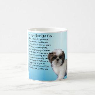 シーズー(犬)のTzu犬-ナンの詩 コーヒーマグカップ