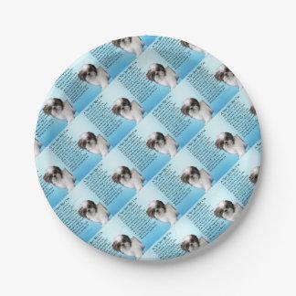 シーズー(犬)のTzu犬-ナンの詩 ペーパープレート
