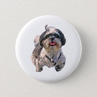 シーズー(犬)のTzu犬 缶バッジ