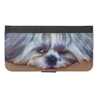 シーズー(犬)のTzu眠い犬 iPhone 6/6s Plus ウォレットケース