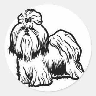 シーズー(犬)のtzu ラウンドシール
