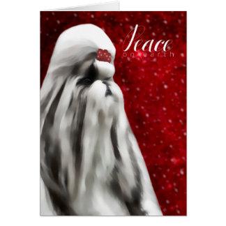 シーズー(犬)のTzu (完全なコート)のクリスマスカード カード