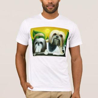 シーズー(犬)のTzu 2匹の犬 Tシャツ