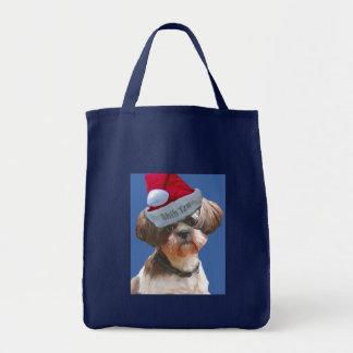 """シーズー(犬)のTzu """"Betsy""""のクリスマスのトート トートバッグ"""