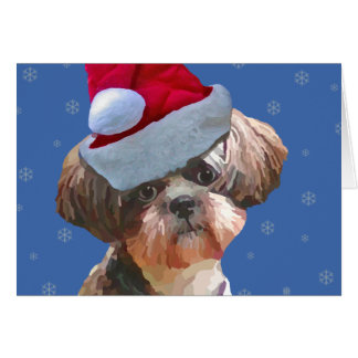 """シーズー(犬)のTzu """"Betsy""""のクリスマスカード カード"""