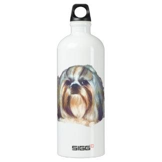 シーズー(犬)のTzu Brindleおよび白い犬 ウォーターボトル