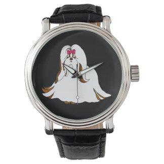 シーズー(犬)のTzu Sondraの大きい腕時計 ウオッチ