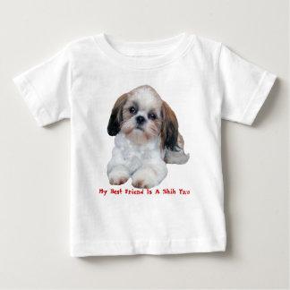 シーズー(犬)のTzu TodlerのTシャツ ベビーTシャツ