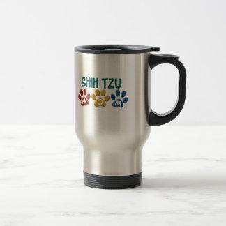 シーズー(犬) TZUのお母さんの足のプリント1 トラベルマグ