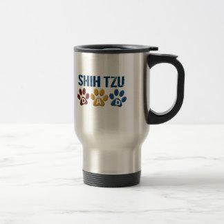 シーズー(犬) TZUのパパの足のプリント1 トラベルマグ