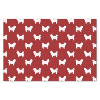 シーズー(犬) Tzuはパターン赤のシルエットを描きます 薄葉紙