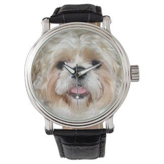 シーズー(犬) Tzuは直面します 腕時計