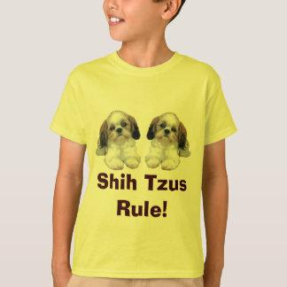 シーズー(犬) TzuはTシャツの子犬の規則をからかいます Tシャツ