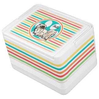 シーズー(犬) Tzu; 明るい虹は縞で飾ります クールボックス