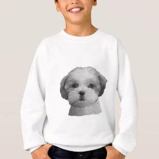 シーズー(犬) Tzu -様式化されたイメージ- Qwnのあなたの文字を加えて下さい スウェットシャツ