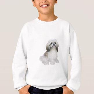シーズー(犬) Tzu -灰色日焼けの白 スウェットシャツ