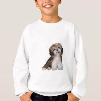 シーズー(犬) Tzu -茶色および白い#2 スウェットシャツ