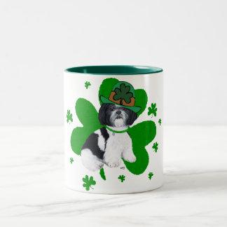 シーズー(犬) Tzu St patricks day ツートーンマグカップ