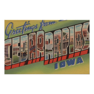 シーダーラピッズ、アイオワ-大きい手紙場面 ポスター