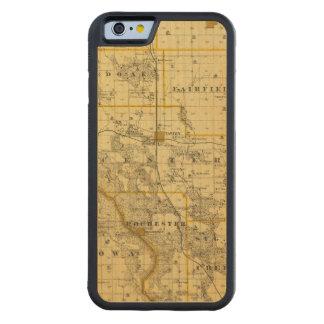 シーダー郡、アイオワ州の地図 CarvedメープルiPhone 6バンパーケース
