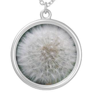 シードのタンポポの花のネックレス シルバープレートネックレス