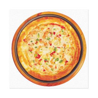 シーフードピザ キャンバスプリント