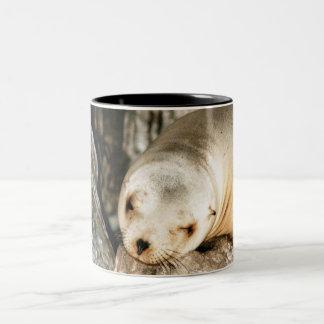 シールのコーヒーカップ ツートーンマグカップ