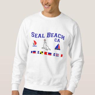 シールのビーチカリフォルニアのシグナルフラグ スウェットシャツ