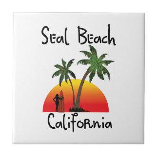 シールのビーチカリフォルニア タイル