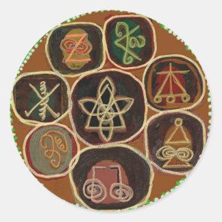 シールはの直します:  Karunaの霊気の紋章 ラウンドシール