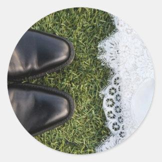 シールを結婚する暖かい足 ラウンドシール