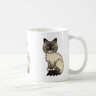 シールポイント虎猫Birman/Ragdoll猫 コーヒーマグカップ
