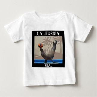 シール(カリフォルニアアシカ) ベビーTシャツ
