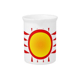 ジア赤い太陽神 ピッチャー