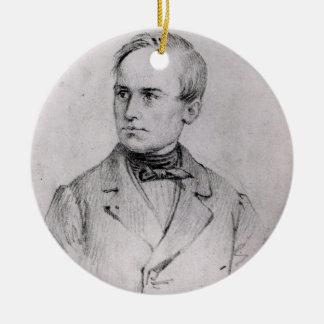 ジウゼッペMazzini (1805-72年) 1830年(木炭) (b/w pH セラミックオーナメント
